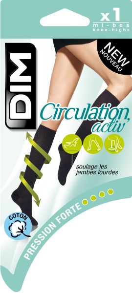 shop speical offer exclusive range Eric Socks | Dim Steunkniekous katoen zwart - circulation activ